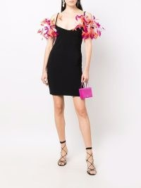 The Attico feather-detail mini dress ~ glamorous LBD