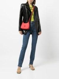 Versace Greca-print skinny jeans | womens designer signature print denim skinnies