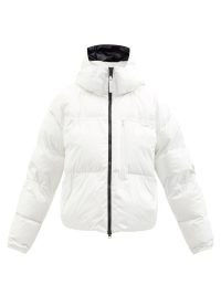 ADIDAS BY STELLA MCCARTNEY Hooded padded jacket in white ~ womens designer puffer jackets