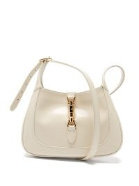 GUCCI Jackie 1961 small ivory-leather bag | luxe shoulder bags | womens designer handbags